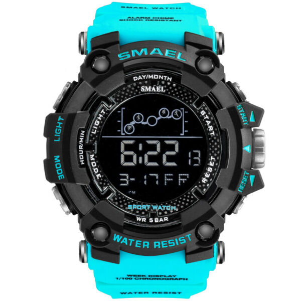 SMAEL Men#x27;s Army Military LED Digital Date Shock Waterproof Quartz Wrist Watch