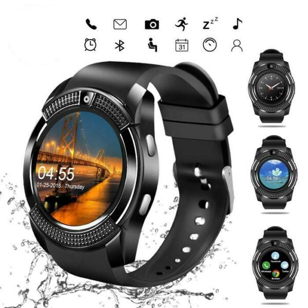US V8 Bluetooth Smart Watch Touch Screen Wristband Fitness Tracker Wrist For iOS