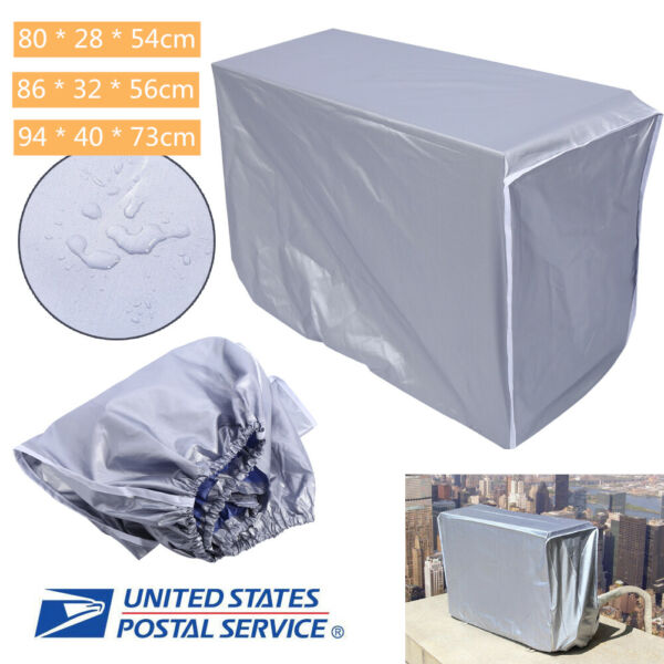 Outdoor Air Conditioner Cover AC Protector Anti-Dust Anti-Snow Waterproof 3 Size
