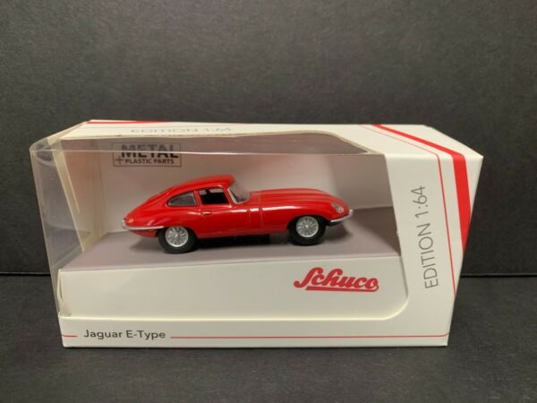 Schuco Jaguar E Type Coupe Red 1/64