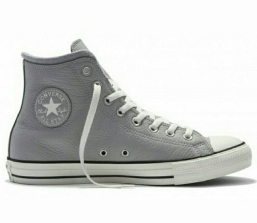 1C Converse Chuck Taylor All Star Grey Dolphin Leather Casual Shoe 153818c