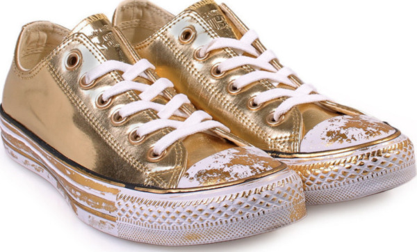 Converse 1C 549653c Ct All Star Ox Womens Low Top Trainers Gold