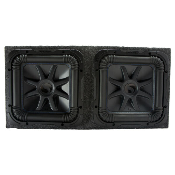 Kicker L7S12 Solo-Baric Car Audio Subwoofers and Sealed Sub Enclosure