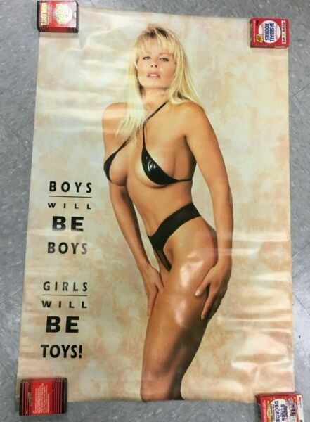 Boys Will Be Boys Girls Will Be Toys Sexy Female Model Poster #6157 SEALED