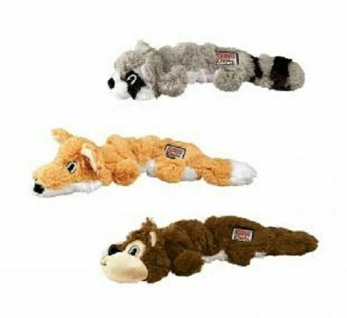 KONG Scrunch Knots Squirrel Dog ToyRealistic pelt toySuitablefor All Dogs