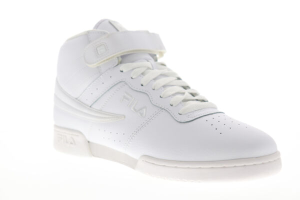 Fila F-13 V 1VF059LX-100 Mens White Casual Lace Up High Top Sneakers Shoes