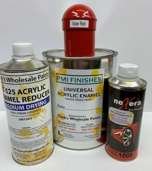 Viper Red Gallon Kit Single Stage ACRYLIC ENAMEL Car Auto Paint Kit