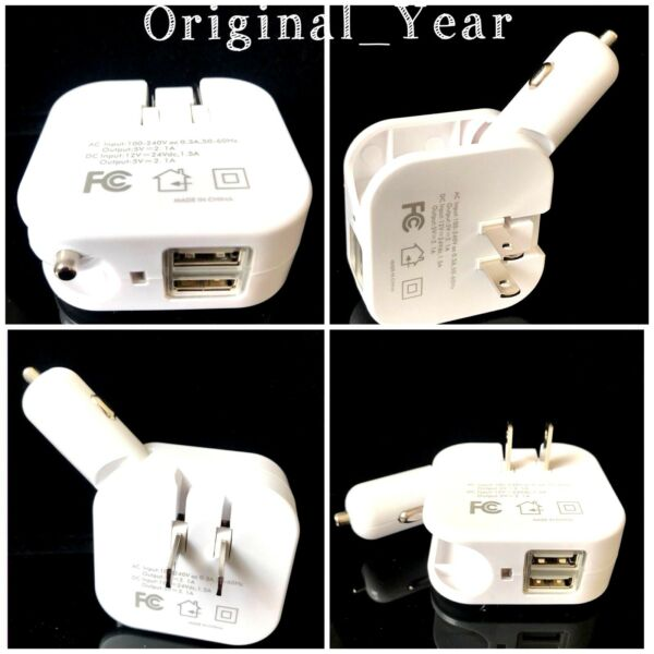 Car Wall Charger Dual USB Portable For iPhone Samsung HTC LG Universal $10.85