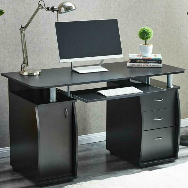 Computer Desk Laptop Table with 3 Drawer Home Office Study Student Furniture