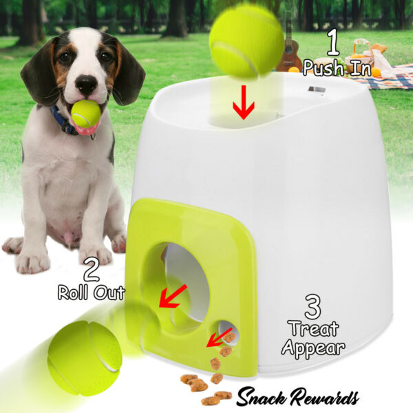Automatic Pet Dog Launcher Tennis Ball Toy Interactive Fetch Chucker Thrower ABS