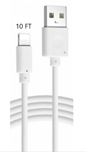 10FT Long USB Cable For Apple iPhone5 6 7 8Plus X Xs Max Xr Lightning Charger