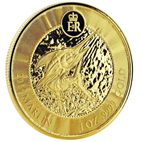 SPECIAL PRICE! 2019 1 oz Cayman Islands Marlin .9999 Gold Coin #A451