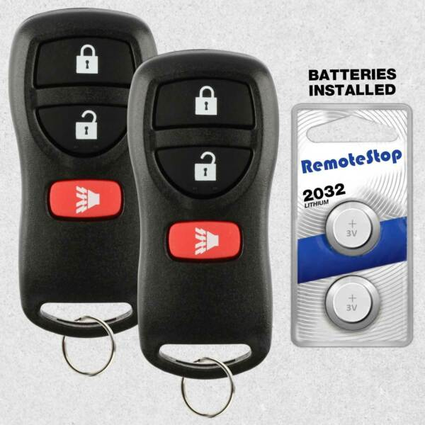 2 For 2002 2003 2004 2005 2006 2007 Nissan Frontier Xterra Car Remote Key Fob