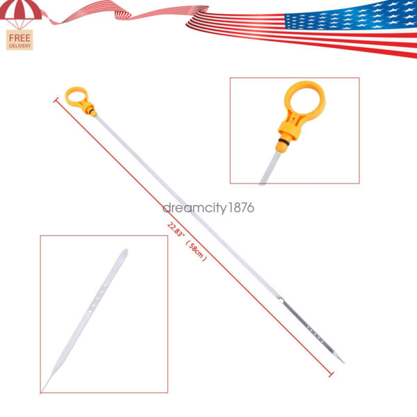 FOR 12574823 OIL DIP STICK DIPSTICK ENGINE MOTOR FLUID LEVEL CHECK YELLOW HANDLE