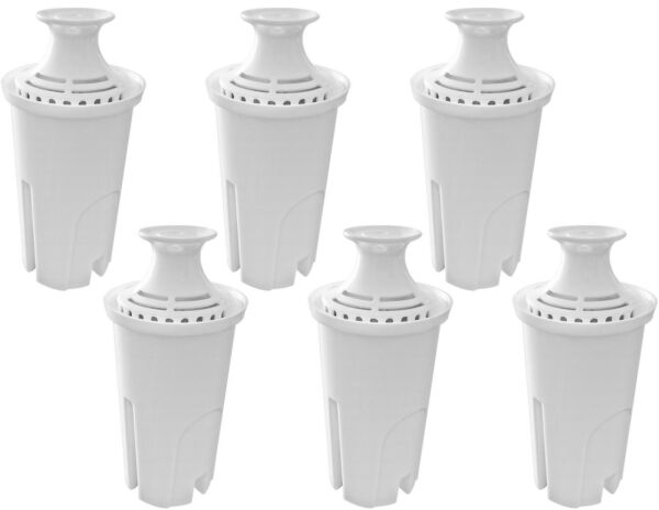 Pack of 6 Water Replacement Filters Compatible with Standard Brita Water Pitcher