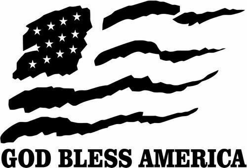 God Bless America  Decal Sticker Car Truck Motorcycle Window