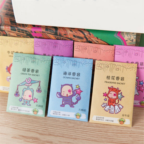 12pcs Sachets Scented Bags Wardrobe Clothes Drawer Car Air Freshener Scent Bag $4.48