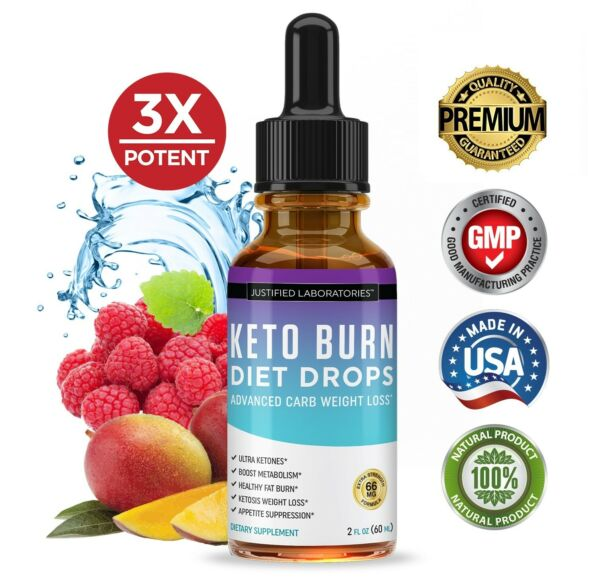 Keto Drops Diet Shred Burn Ketosis Weight Loss Supplement Fat Burn Carb Blocker