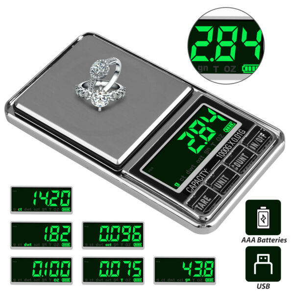 Portable Pocket Electric Scales Jewelry Gold Weight Mini Digital Scale 5001000g
