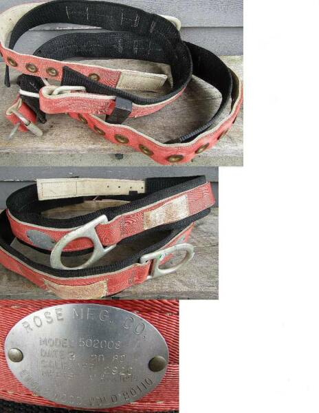 ( 2 )  ROSE #502008 SAFETY HARNESS TREE CLIMBING BELTS