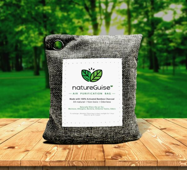 Activated Bamboo Charcoal Bag Filter Natural Air Purifying Remedy NatureGuise $12.00