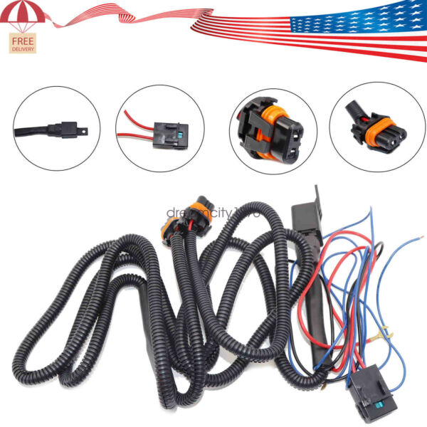 LED Fog Light Wiring Harness Kit For Chevy Silverado 2003-2006 (2007 Classic)