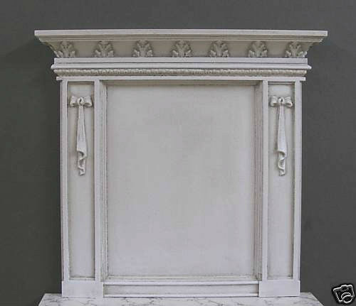 FIREPLACE  OVERMANTLE~ DISTRESSED  ~ Dollhouse Miniature ~ 1:12 scale ~ Room Box