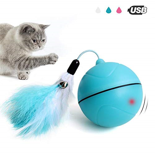 Smart Interactive Cat Toys Automatic 360 Degree Rotating Ball USB Rechargeable