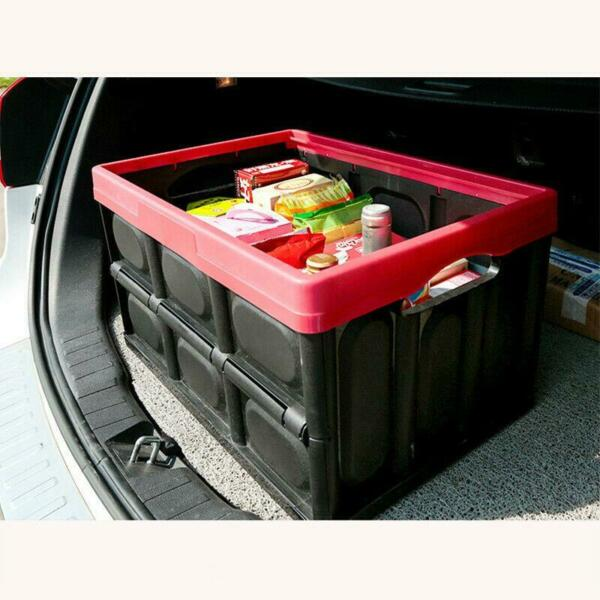 30L Collapsible Plastic Storage Box Durable Stackable Folding Utility Crate $17.99
