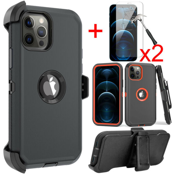 For iPhone 11 12 Pro Max Case Belt Clip Fits Otterbox Defender Screen Protector $11.99