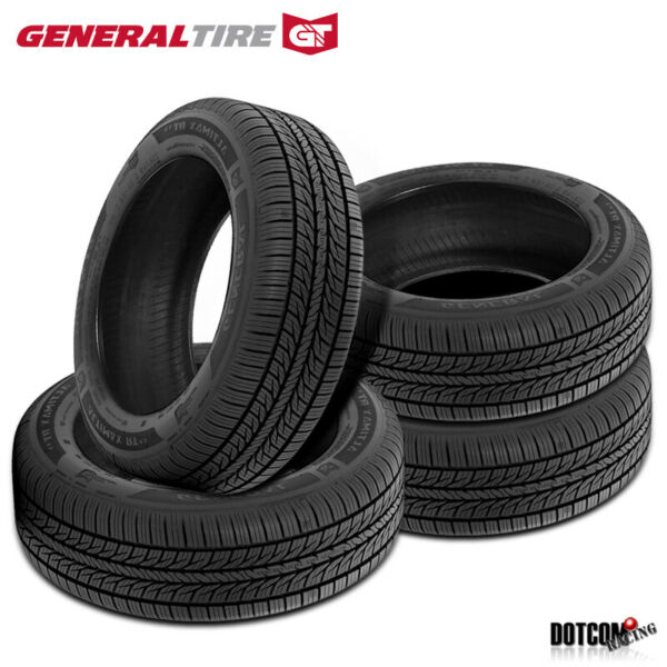 4 X New General AltiMAX RT43 2255018 95T All-Season Touring Tire