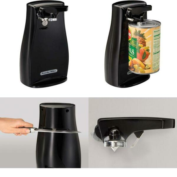 ELECTRIC CAN OPENER W Knife Sharpener Automatic Durable Extra Tall Kitchen Tool