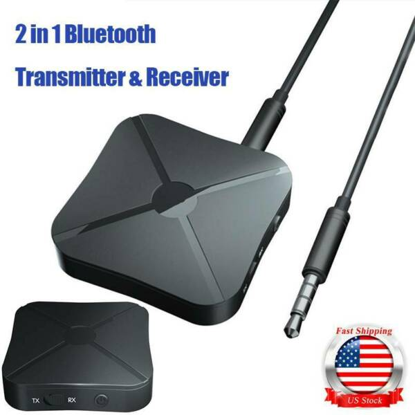 Wireless Bluetooth Transmitter&Receiver AUX RCA Adapter for Speaker TV PC Audio