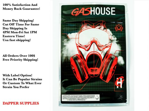 Gas House 8th 3.5g - 7g mylar bags packaging (5-128 packs) label option!