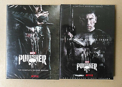The Punisher Seasons 1-2 DVD (6 Disc Set) Complete with Slip Covers