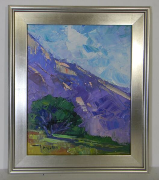 JOSE TRUJILLO MODERN ABSTRACT 20 LARGE FRAMED OIL CANVAS PAINTING IMPRESSIONISM