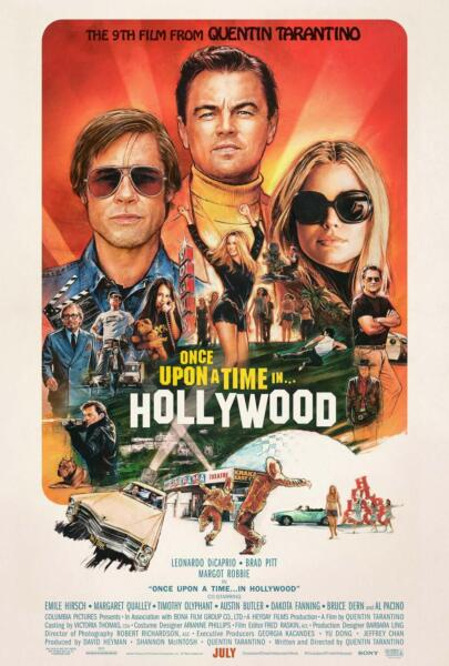 ONCE UPON A TIME IN HOLLYWOOD MOVIE POSTER US Version (Size 24 x 36)