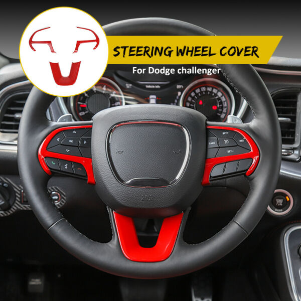 3x Steering Wheel Frame Cover Trim for Dodge ChallengerCharger 15+ Accessories
