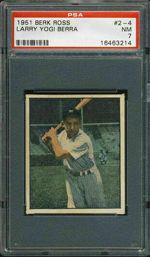 1951 Berk Ross #2-4 Yogi Berra PSA 7 New York Yankees HOF