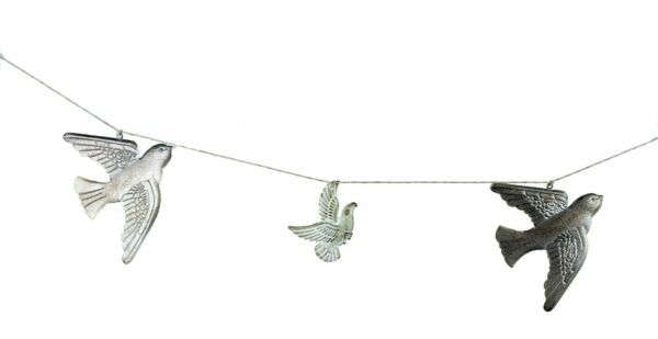 Midwest CBK Rustic Flying Bird Metal Banner~Farmhouse Mantel Garland Wall~6.5 Ft