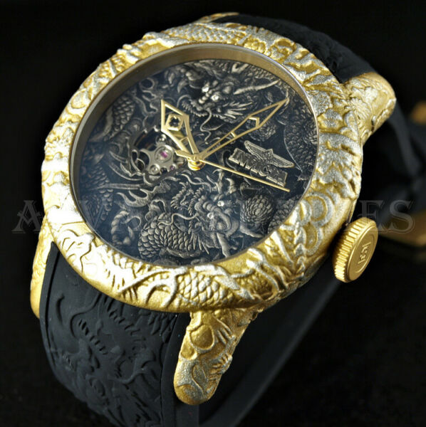 Invicta 50mm S1 EMPIRE Dragon NH38A Automatic SAPPHIRE Open Heart Dial Watch NEW