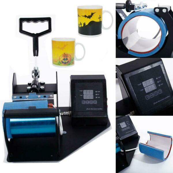 Cup Coffee Mug Heat Press Machine Transfer Sublimation DIY Print Pattern 11oz $59.79