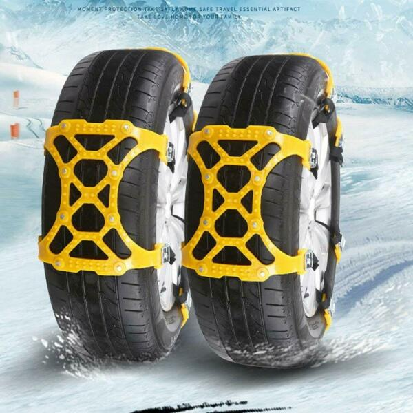 2pcs Car Anti-Skid Winter Snow Chain Tire Wheel Anti-slip Emergency Safty Belt