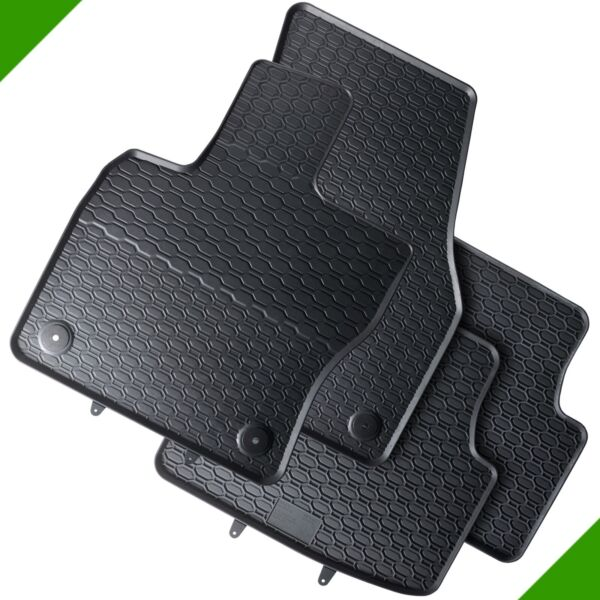 VW Tiguan AD1 SUV Premium Car Foot Mat Rubber Mat Black 2