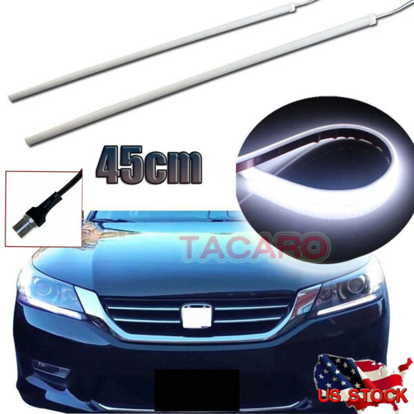 For 13 - 15 Honda Accord Headlight DRL DIY LED Strip Light (Even Illuminating)