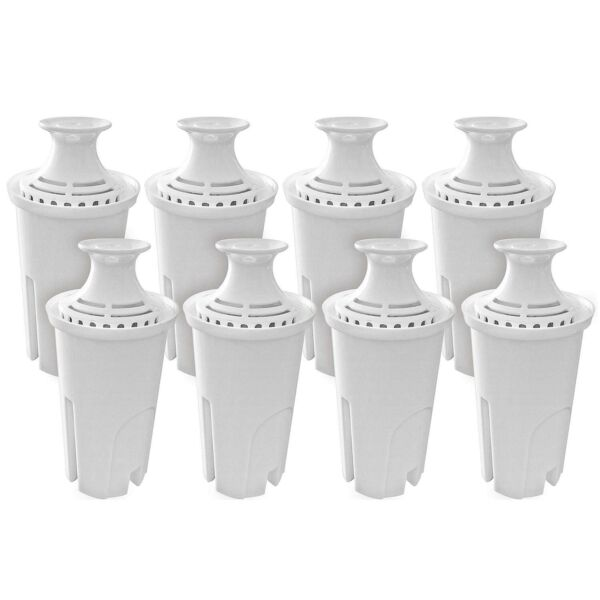 Pack of 8 Water Replacement Filters Compatible with Standard Brita Water Pitcher