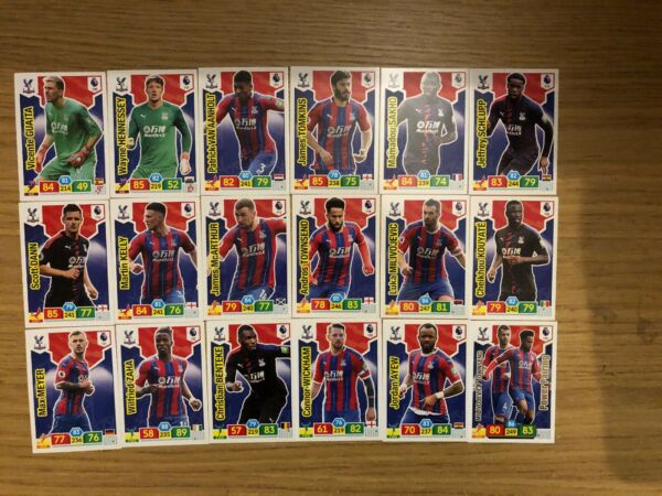 PANINI PREMIER LEAGUE 201920 FULL TEAM SET OF ALL 18 CRYSTAL PALACE CARDS MINT