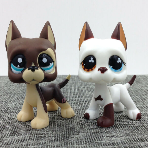 LPS Littlest Pet Shop 577 1519 Hasbro Chocolate Great Dane Dog Rare Gift Kid Toy