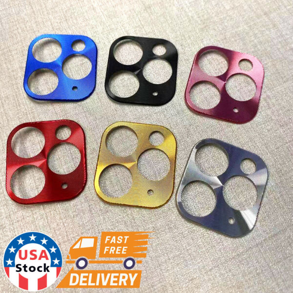 For iPhone 11 Pro Max Back Camera Lens Circle Film Protective Case Metal Cover