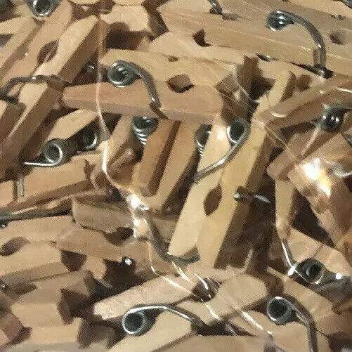 "100 MINI CLOTHESPINS - ARTS AND CRAFTS 1"" X 1/4"""